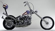 A 1993 replica of Harley-Davidson's Easy Rider chopper made uberfamous by Peter Fonda's 1969 film. (Harley-Davidson)