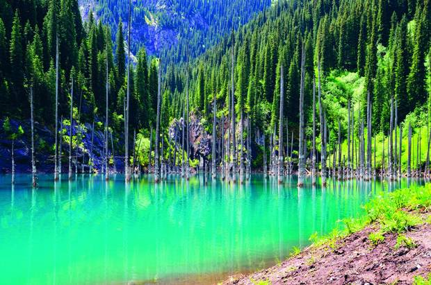 Lake Kaindy – Tian Shan Mountains, Kazakhstan.