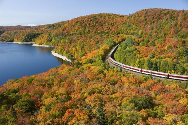 The rail journey takes you across Canadian Shield to the remote Agawa Canyon Wilderness Park.