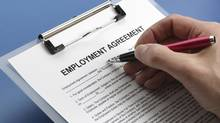 Many employers are using employment contracts to reduce workers' legal rights, so read carefully before you sign one. (Brian Jackson/Getty Images/iStockphoto)