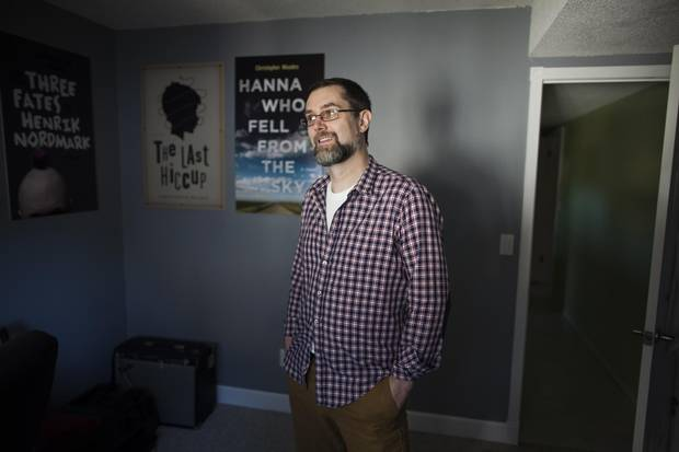 Christopher Meades, author of the book Hanna Who Fell from the Sky, at his home in Delta, B.C.