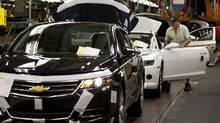 The Impala's revival is important for GM's plant in Oshawa, Ont., where 3,000 employees working on three shifts are assembling the Impala alongside the Buick Regal, Chevrolet Camaro and Cadillac XTS. (Moe Doiron/The Globe and Mail)