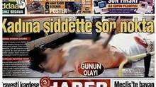 A screengrab from Turkish newspaper Habertürk shows a blurred-out photo of a stabbed women. (Screengrab/Screengrab)