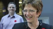 Human Resources Minister Diane Finley is seen in Toronto on Thursday, Nov. 8, 2012, ahead of her announcement about a new funding initiative for social policy in Canada. (Colin Perkel/The Canadian Press)
