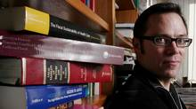 University of Alberta law professor, Timothy Caulfield, in his Edmonton office on Monday March 6, 2006. (John Ulan/The Globe and Mail)