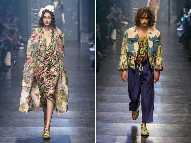 Looks from Westwood's Spring 2016 line.