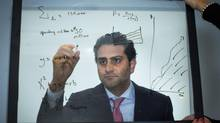 Erfan Kazemi says his early work as a financial auditor prepared him for a position as CFO at Sandstorm Gold. (John Lehmann/The Globe and Mail)