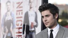 Actor Zac Efron attends the premiere of the film Neighbors in April in Los Angeles. (Dan Steinberg/THE ASSOCIATED PRESS)