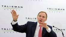 John Manzoni, president and Chief Executive Officer of Talisman Energy. (TODD KOROL/TODD KOROL/REUTERS)