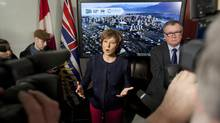 Premier Christy Clark announces province is contributing $113-million to the Emily Carr project. (Deborah Baic/The Globe and Mail)