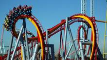 The Silver Bullet coaster at Knott's Berry Farm in California.