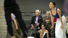 Jim and Sandra Pitblado watch a rehearsal at the National Ballet of Canada in Toronto, Oct. 26, 2011. (Kevin Van Paassen/Kevin Van Paassen / The Globe and Mail)