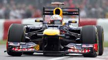 Red Bull driver Sebastian Vettel of Germany drives during the afternoon practice session at the Canadian Grand Prix at Circuit Gilles Villeneuve in Montreal on Friday, June 8, 2012. (Tom Boland/THE CANADIAN PRESS)