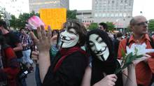 Demonstrators march in the streets of Montreal to protest against tuition hikes and Quebec's Bill 78 aimed at controlling student demos, on May 31, 2012. (Ryan Remiorz/Ryan Remiorz/The Canadian Press)