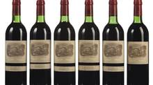 Château Lafite-Rothschild bottles. (Adam Lechmere/Decanter)
