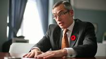 Tony Clement, shown in his Parliament Hill office on Nov. 5, 2010, was industry minister during the G8 summit in his Muskoa riding. (DAVE CHAN/Dave Chan for The Globe and Mail)