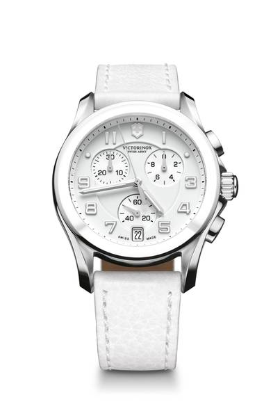 Chrono Classic Ceramic watch by Victorinox Swiss Army, $625 through www.swissarmy.com . (Handout)