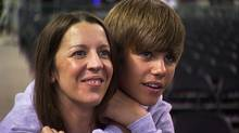 "Pattie Mallette and Justin Bieber in a scene from the film ""Justin Bieber: Never Say Never"" (Paramount Pictures)"