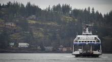 The Powell River Queen makes her way into in Campbell River, B.C. April 3, 2012. (John Lehmann/The Globe and Mail)