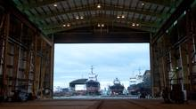 Seaspan Marine's Vancouver Shipyards will soon be revamped to prepare for $8 billion worth of work for Ottawa (Dina Goldstein/Dina Goldstein)