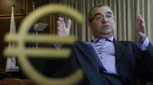 Cypriot central bank chief Panicos Demetriades. (Petros Karadjias/AP)