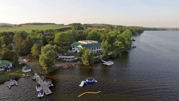 Elmhirst's Resort is set on prime waterfront.