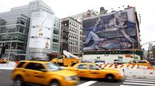 An ad for Calvin Klein jeans is displayed in New York City (Seth Wenig)