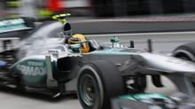 Mercedes driver Lewis Hamilton (Vincent Thian/AP)
