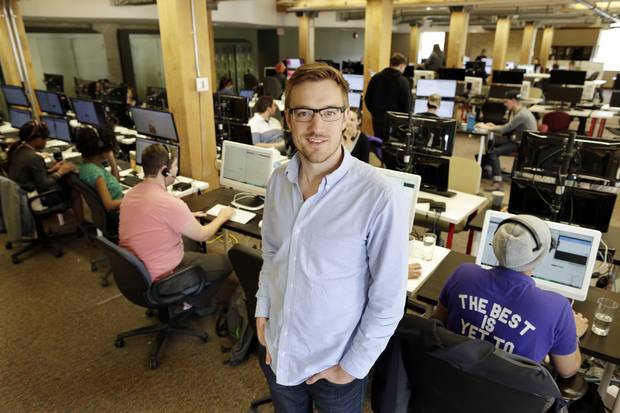 Joshua Simair, CEO and co-founder of Skip the Dishes, at his company's offices.