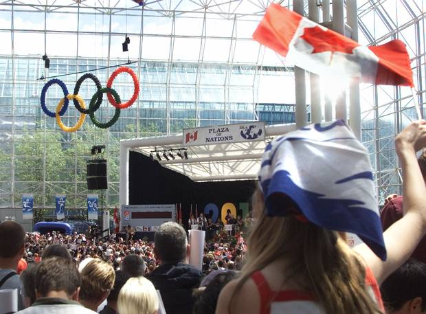Supporters celebrate in July, 2003, following the announcement that Vancouver had won its 2010 Winter Olympic bid.