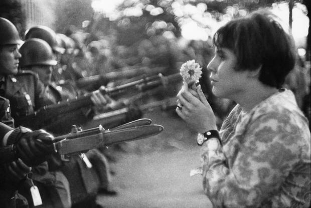 Peace march against the Vietnam War, Washington DC, USA, 1967.