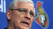 Ottawa Senators general manager Bryan Murray holds a news conference on Tuesday, May 28, 2013 in Ottawa. (FRED CHARTRAND/THE CANADIAN PRESS)