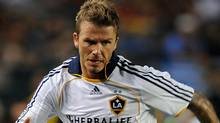Los Angeles Galaxy midfielder David Beckham Getty Images / GABRIEL BOUYS (GABRIEL BOUYS)