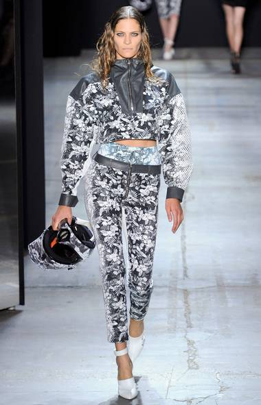 Printed denim, on the runway (Dress Code 36/Press Association)