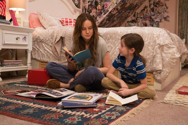 Brie Larson, left, won the Oscar for best actress in 2016 for her role in Room alongside Jacob Tremblay.