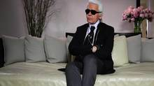 Karl Lagerfeld in Scatter my Ashes at Bergdorf's.