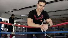 As well as organizing the Goodfit Battles, a monthly fitness competition in north Toronto, Alex Savva donates equipment and prizes. (MOE DOIRON/THE GLOBE AND MAIL)
