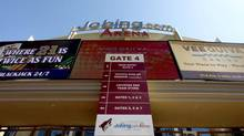 Jobing.com Arena, where the Phoenix Coyotes NHL hockey team plays home games, as shown Wednesday, June 13, 2012, in Glendale, Ariz. (Ross D. Franklin/AP)