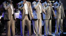 The Blind Boys of Alabama perform during a 90th birthday celebration for civil rights pioneer Rev. Joseph Lowery, at the Atlanta Symphony Hall, Oct. 9, 2011, in Atlanta. (John Amis/Associated Press)
