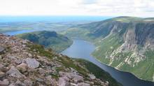 The view from Gros Morne Mountain's summit, looking down at Ten Mile Pond in western Newfoundland. (MELANIE PATTEN/The Canadian Press)