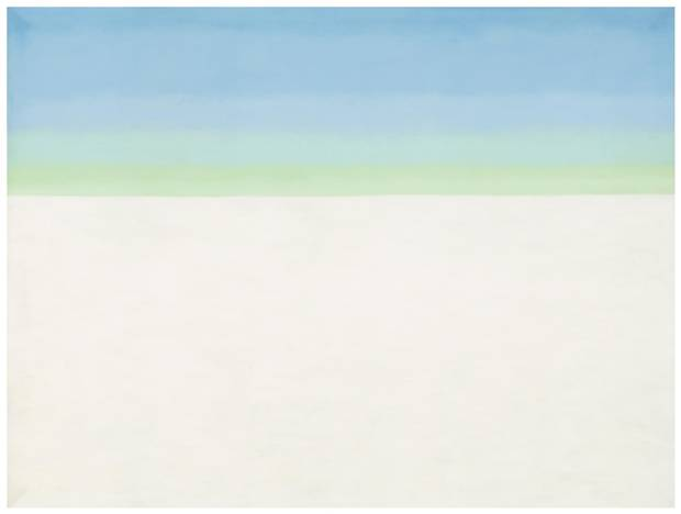 Sky with Flat White Cloud, 1962.