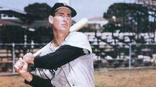 This undated file photo shows former Boston Red Sox legend Ted Williams, who holds the record for on-base percentage. (HO)