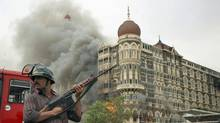 The Taj hotel, under siege, in this 2008 file photo of the Mumbai massacre. (Sajjad Hussain/AFP/Getty Images/Sajjad Hussain/AFP/Getty Images)
