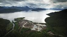 The planned Kitimat LNG site. (JOHN LEHMANN/THE GLOBE AND MAIL)