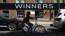 The Winners store on Spadina, south of King Street, in Toronto on Aug. 28, 2014. (Peter Power for The Globe and Mail)