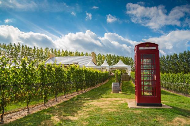 Luckett Vineyards offers a novelty London call box where visitors can make free calls to anywhere in Canada.