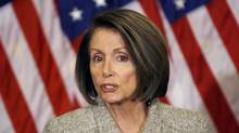 House Speaker Nancy Pelosi of Calif. speaks during a news conference on Capitol Hill in Washington. (Jose Luis Magana)