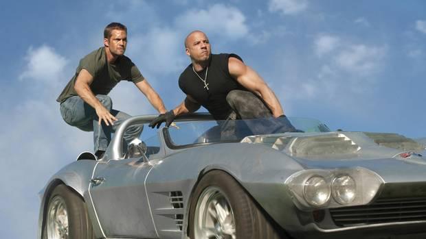 Paul Walker and Vin Diesel in 'Fast Five'.