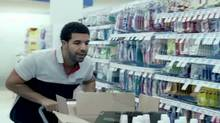"Drake in a screen grab from the video for his song ""Started from the Bottom"""