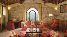 Castello di Casole features five-star amenities in a restored, centuries-old castle.